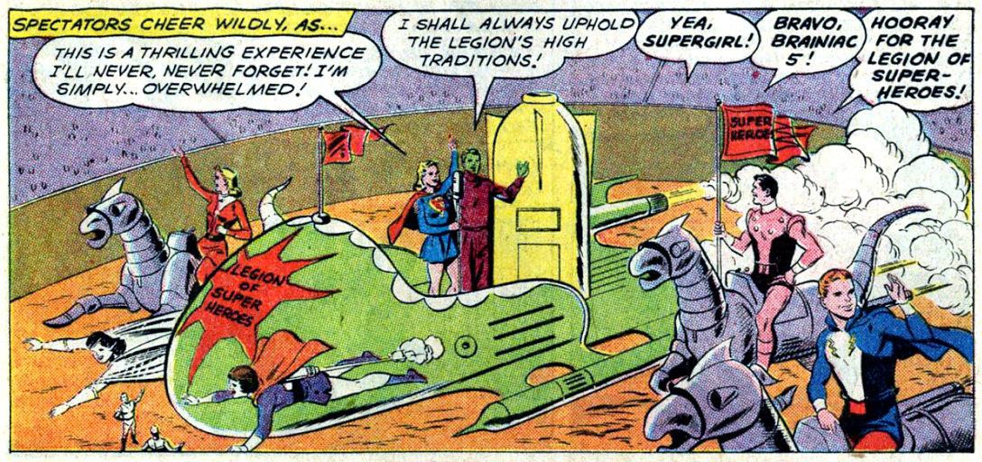 plano critico supergirl e brainiac 5 são aceitos na legião plano critico