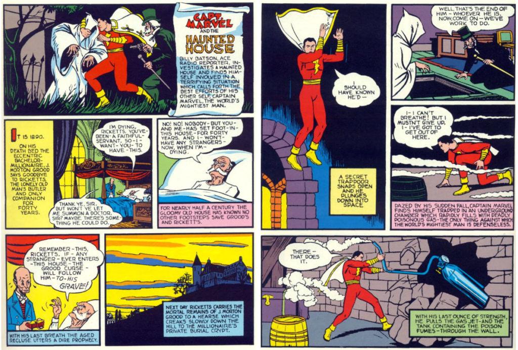 Capt. Marvel and the Haunted House plano critico capitão marvel shazam