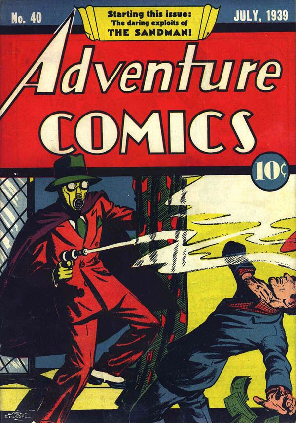 Plano Crítico Sandman Adventure Comics plano critico homem da areia