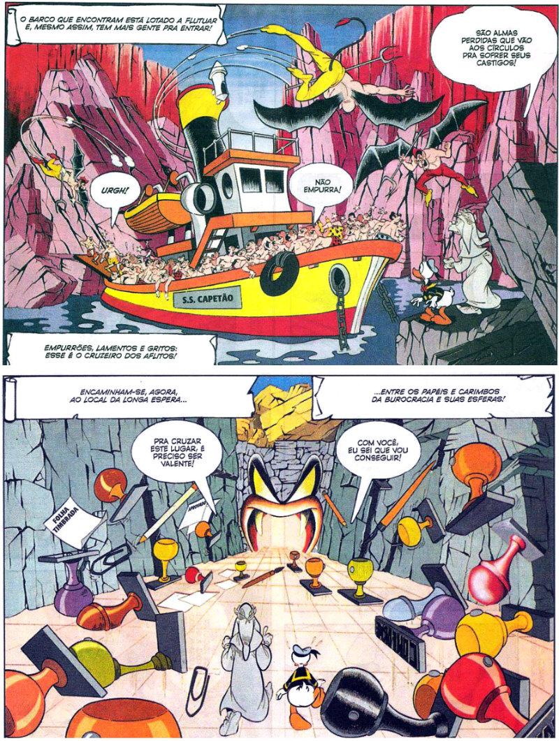 plano critico o inferno de donald quadrinho 1987
