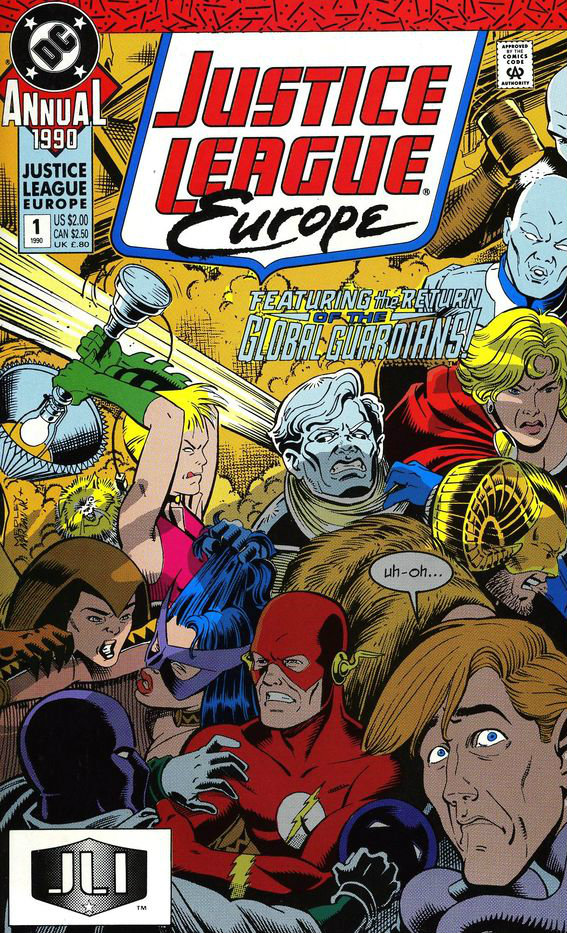 Justice League Europe Annual plano critico blues