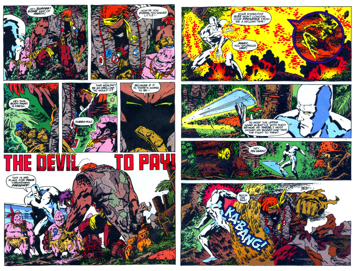 PLANO CRITICO SURFISTA PRATEADO Marvel Comics Presents