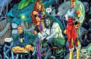 plano critico 52 Homem Animal, Estelar e Adam Strange