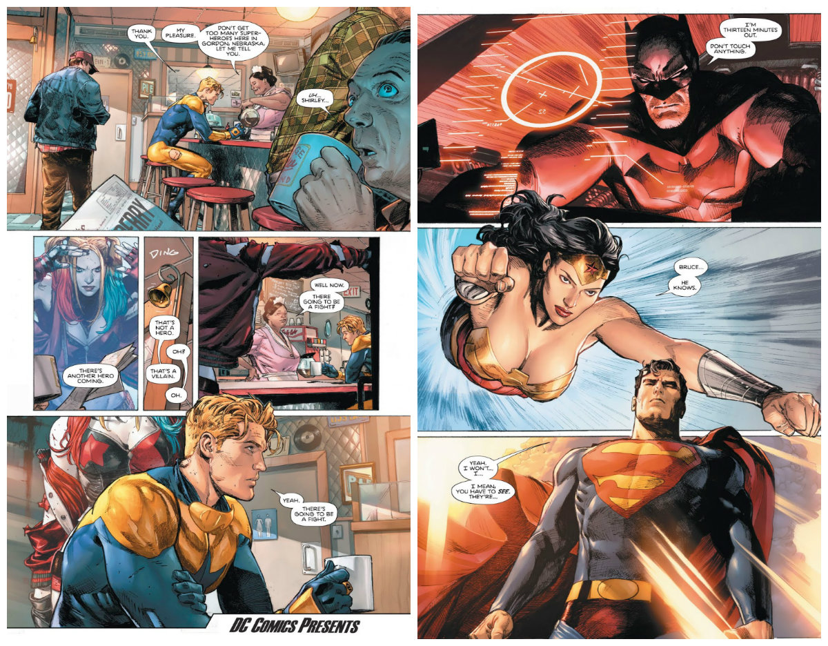 plano critico heróis em crise Heroes in Crisis #1I'm Just Warming Up