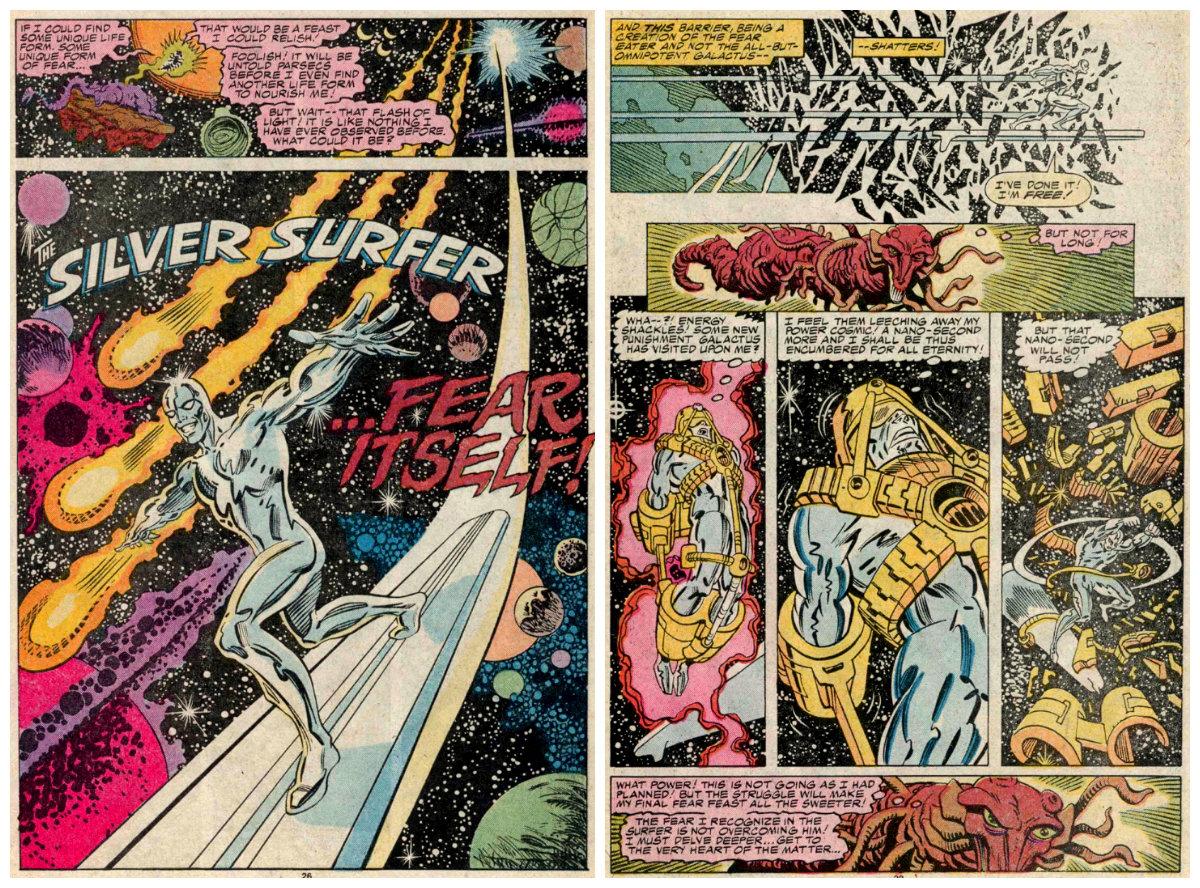 plano critico o próprio medo surfista prateado marvel Marvel Comics Presents