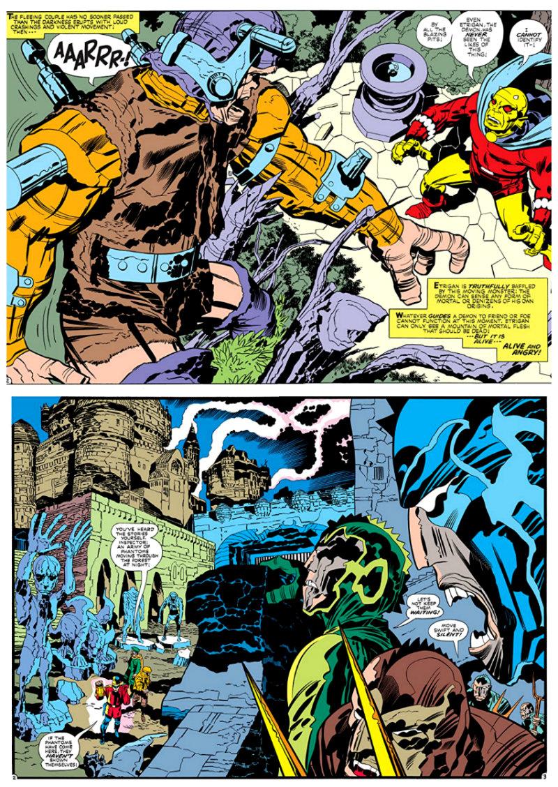 Etrigan, o Demônio Fase Jack Kirby 1972 - 1974 plano critico plano critico