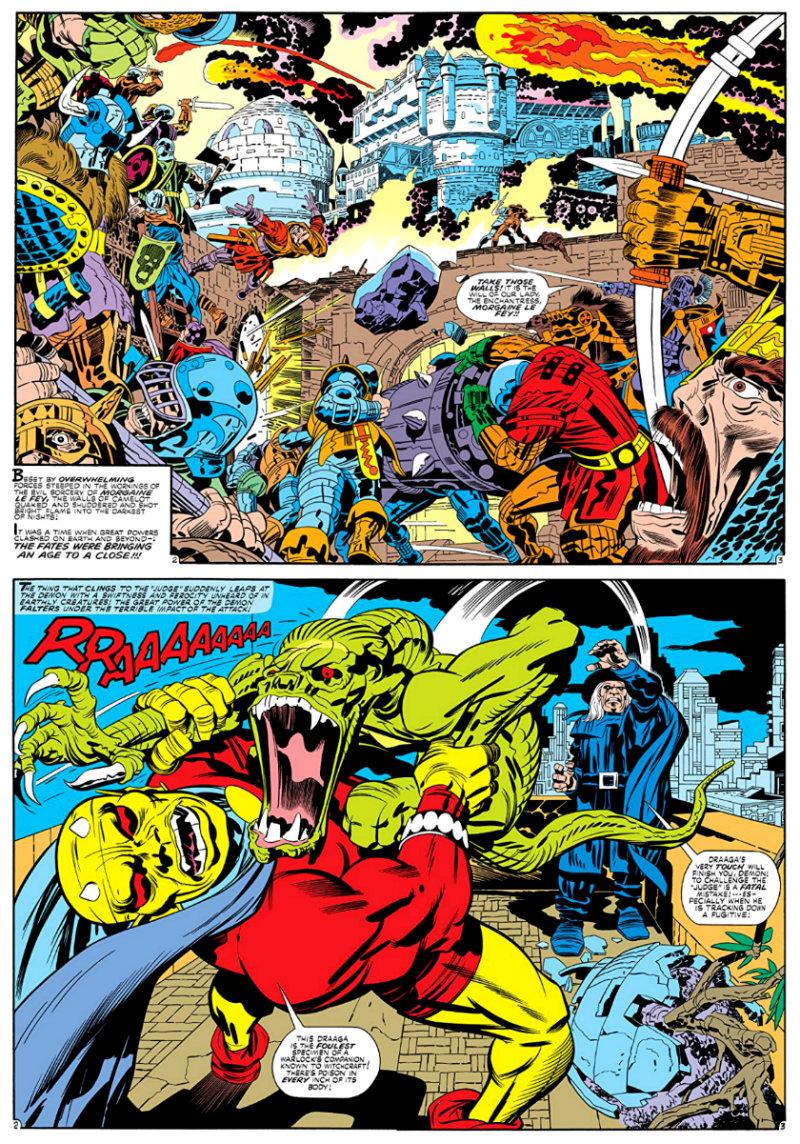 plano critico Etrigan, o Demônio Fase Jack Kirby 1972 - 1974