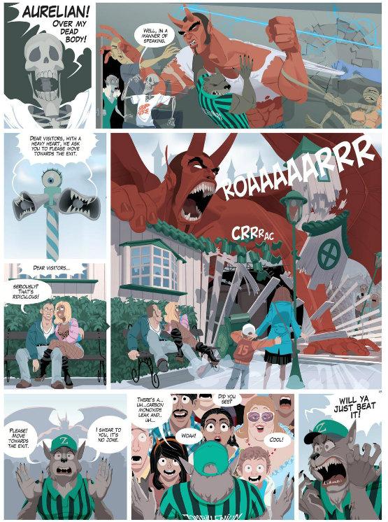 Zombillenium - Control Freaks V3 (2015) -plano critico quadrinhos