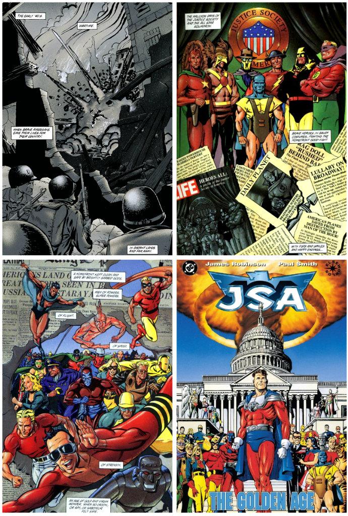 plano critico a sociedade da justiça JSA A Era de Ouro quadrinhos
