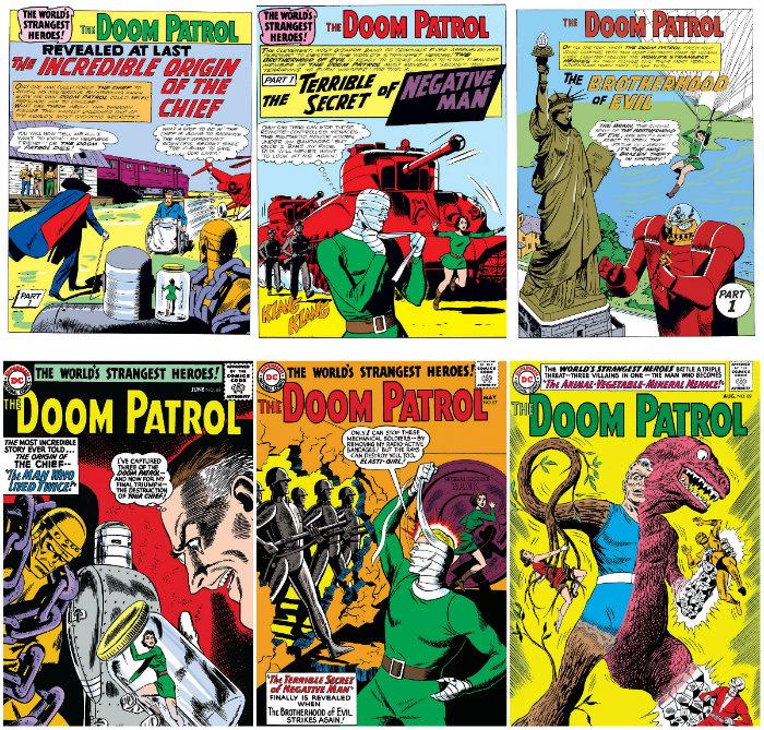 plano critico quadrinhos patrulha do destino 85 a 89 arquivos volume um