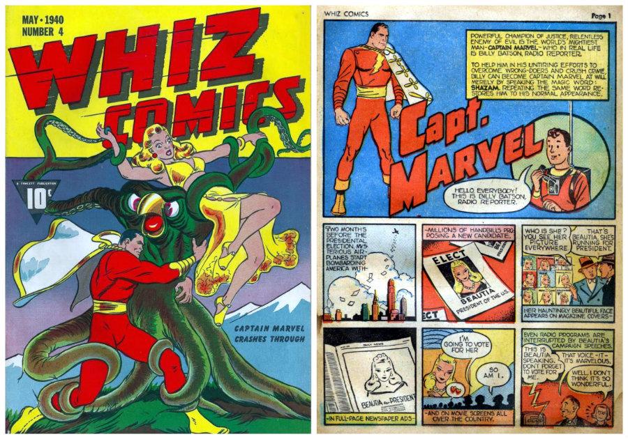 capitão marvel whiz comics 4
