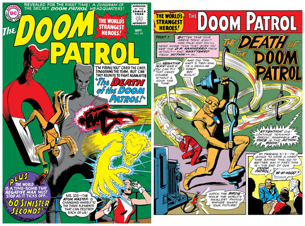 plano critico patrulha do destino The Death of the Doom Patrol