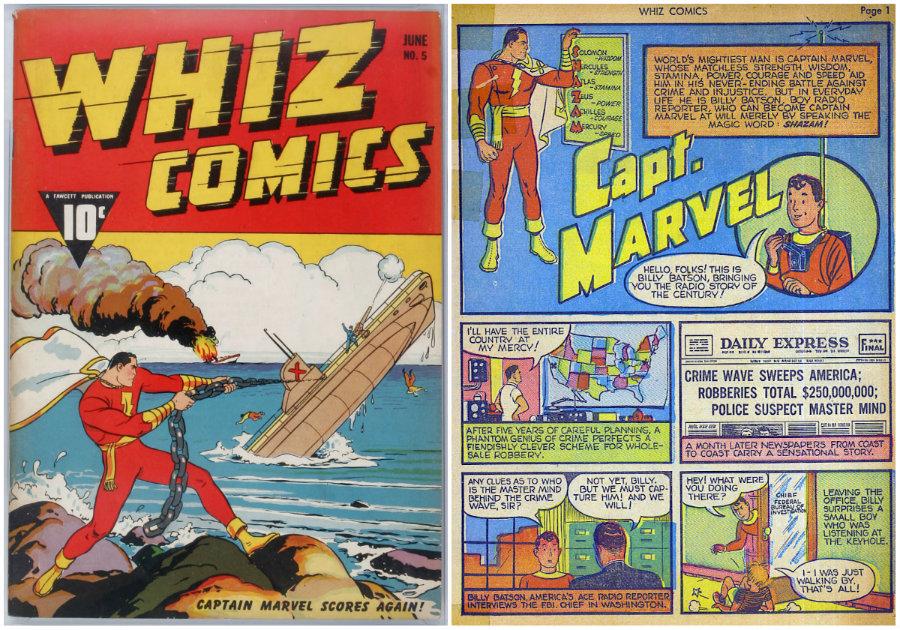 plano critico whiz comics capitão marvel 5