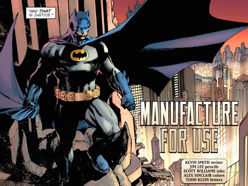 Manufacture for Use plano critico batman