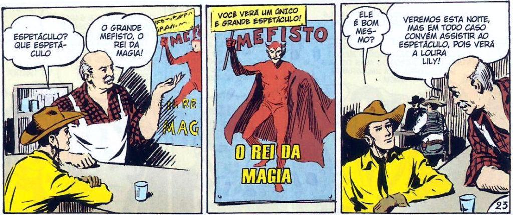 Tex em Cores - BR0002 - Surge Mefisto (2009) - página 128 primeira aparição de Mefisto