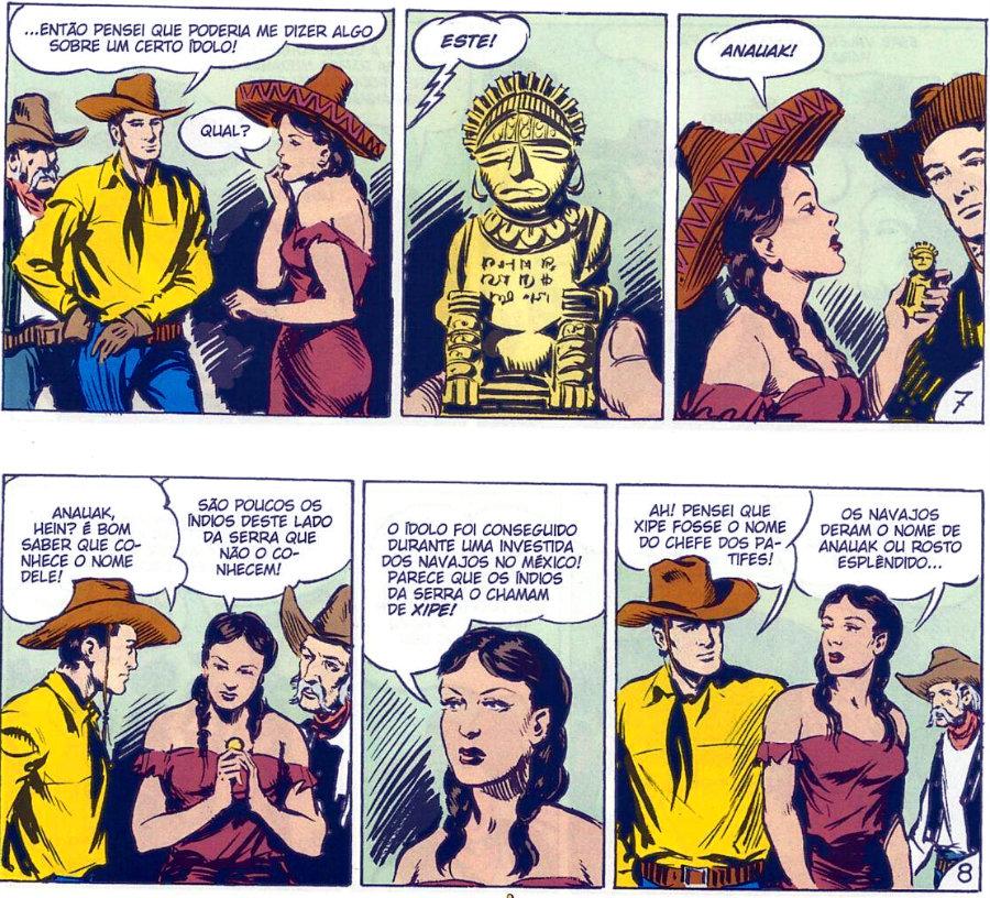 Tex em Cores - BR0002 - Surge Mefisto (2009) - página 48 plano critico idolo dourado