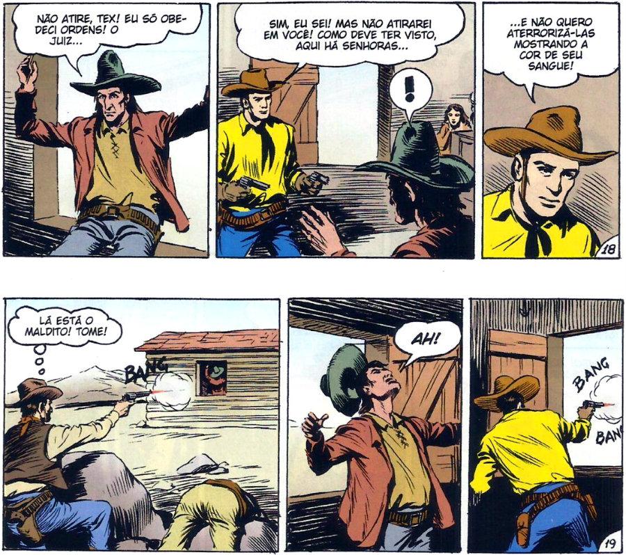 Tex em Cores - BR0003 - O Bando do Vermelho (2010) - plano critico tex derrota o vermelho