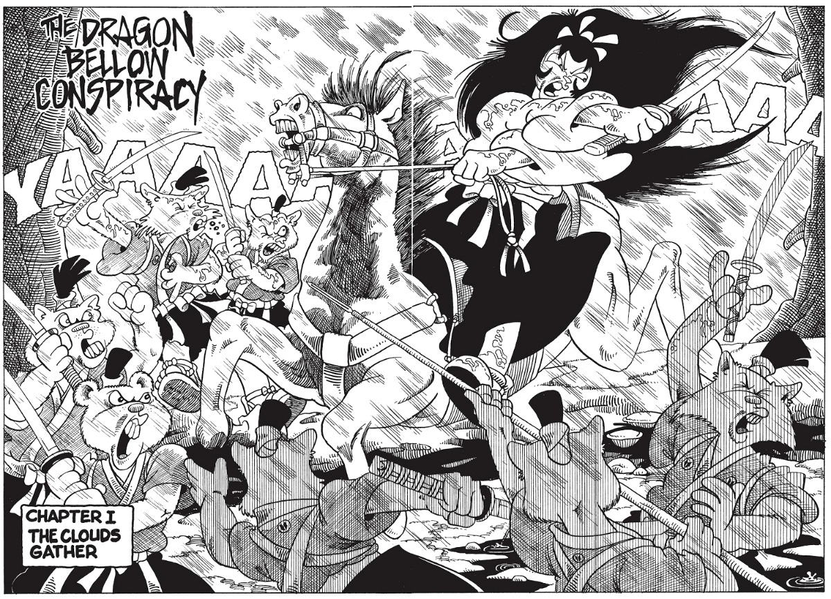 plano critico usagi yojimbo a conspiração do dragão quadrinhos