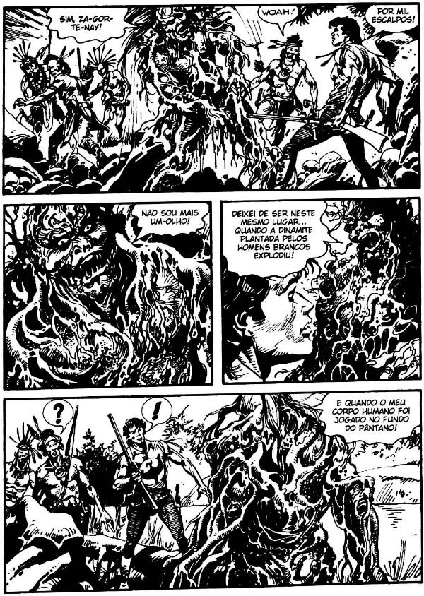 plano critico 4 - Zagor Especial - O pantano mortal #10 monstro do pantano bonelli