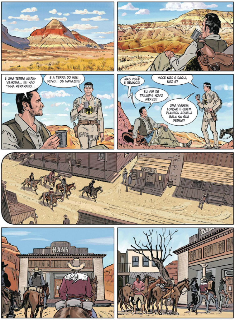 plano critico tex drama no deserto graphic novel
