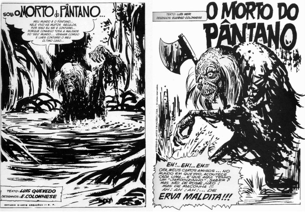 primeiras páginas de o morto do pântano