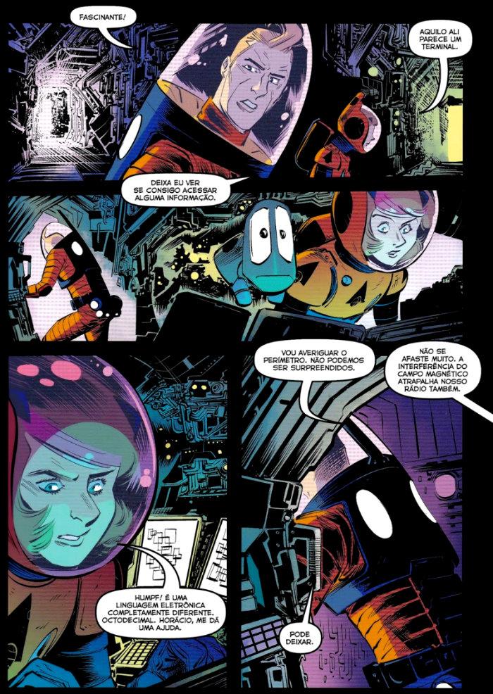 Entropia plano critico astronauta quadrinhos