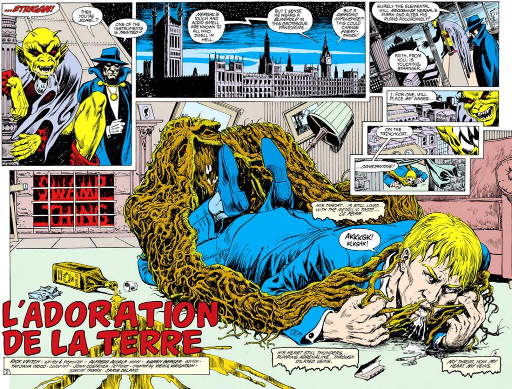 plano critico mosntro do pantano constantine quadrinhos