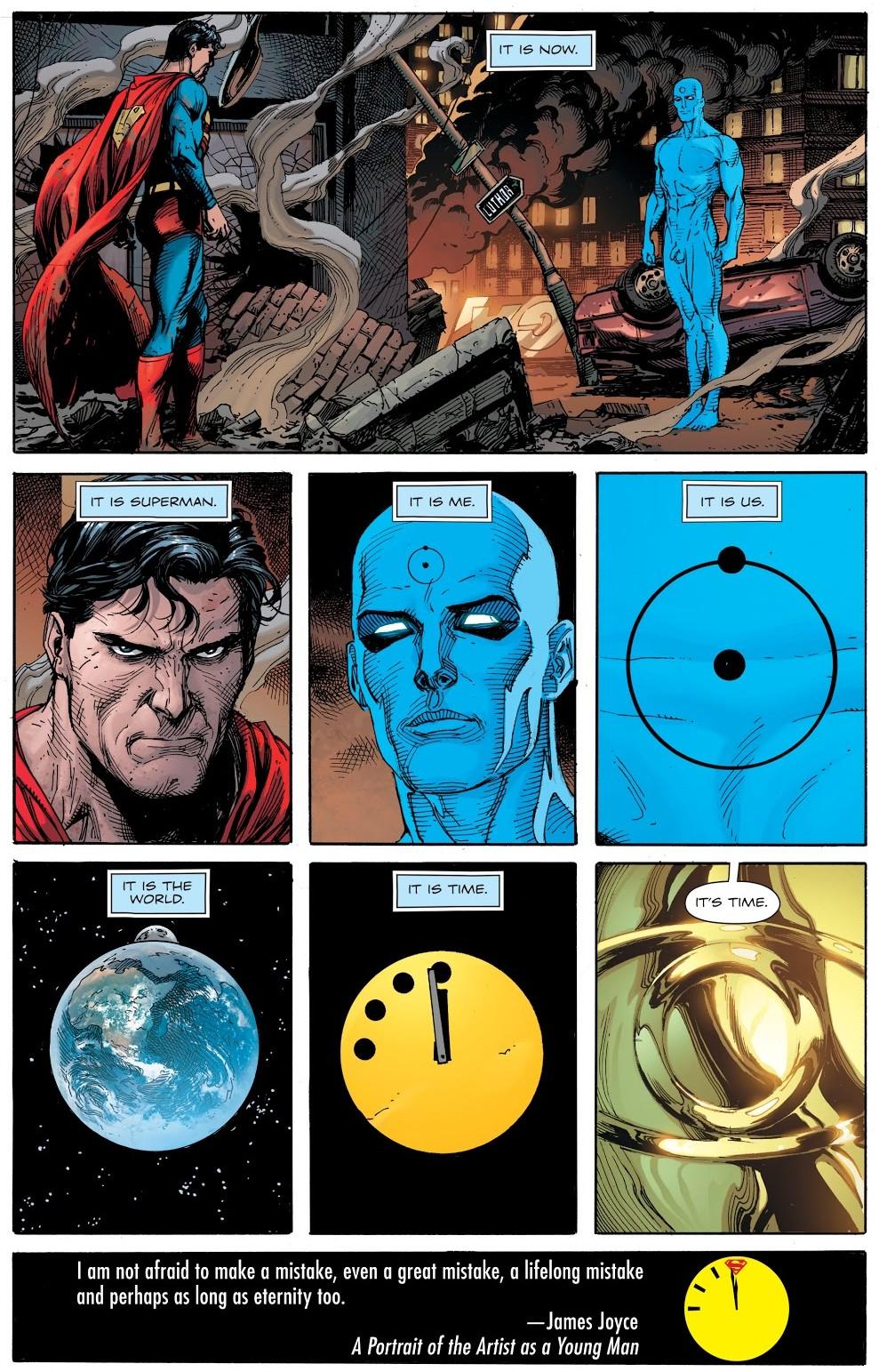 relógio do juizo final plano critico edição 11 superman e dr manhattan